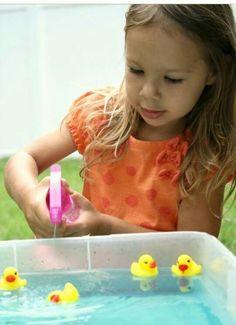 Make ducks swim with water spray
