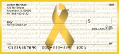Childhood Cancer Awareness Ribbon from Checks-SuperStore.com (love this)!