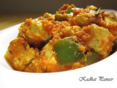 How to make Kadai Paneer. Kadai Paneer is a side dish made from vegetables, paneer pieces, and spices.Serve it with roti, naan or pulao. Indian Veg Recipes, Paneer Recipes, Ethnic Recipes, Indian Side Dishes, Side Dishes Easy, Kadhai Paneer, Indian Cheese, Vegetarian Gravy, Roti Recipe