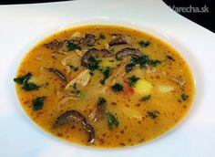 Vianočná hríbovica Thai Red Curry, Ale, Ethnic Recipes, Soups, Christmas, Xmas, Ale Beer, Soup, Navidad