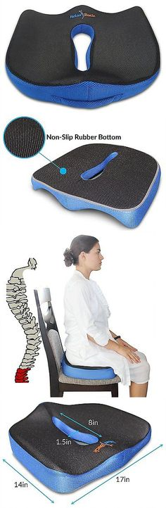 Massage Pillows and Bolsters: Relax Back Coccyx Seat Cushion: Lower Back Pain Relief Orthopedic Memory Foam And BUY IT NOW ONLY: $37.35