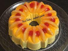 Angel cake with lemon - HQ Recipes Jello Cake, Jello Desserts, Easy Desserts, Delicious Desserts, Gelatin Recipes, Jello Recipes, Mexican Food Recipes, Baking Recipes, Sweets