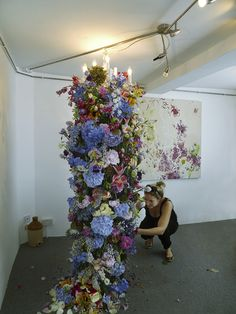 Wow! My dream wedding will have one of these! Rebecca-Louise-Law-Floral-Chandelier