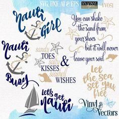 DIGITAL DOWNLOAD ... Nautical vectors in AI, EPS, GSD, & SVG formats @ My Vinyl Designer #myvinyldesigner #vinylandvectors