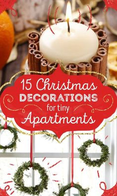 A small apartment doesn't mean you have to downsize your decorating. Here's how you can get creative with the little space you have to decorate for the holidays