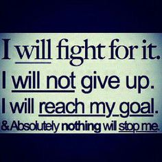 I have setbacks.  Some are of my own making, due to my weakness.  But I can persevere!