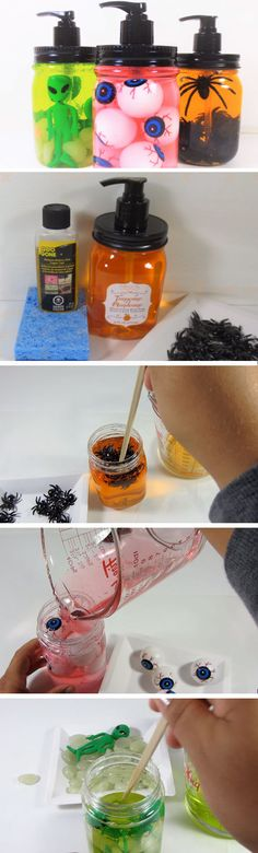 Halloween Soap Dispensers | Easy DIY Halloween Decorations for Kids
