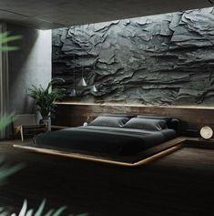 Funky Bedroom, Modern Bedroom Decor, Bedroom Colors, Modern Luxury Bedroom, Home Room Design, Master Bedroom Design, Trendy Home, Unique Home Decor, Black Rooms