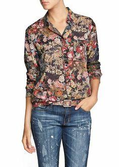 2014  Brand New  Women Fashion  Flower Prints Casual  Blouse Ladies leisure Shirt,SW7039-H03 US $8.49