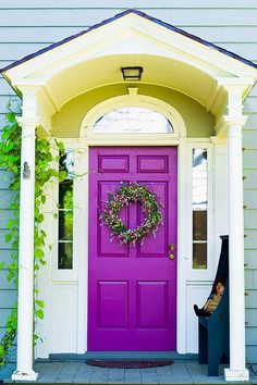 My door already looks like this!  The house color in this photo looks perfect and I want to find this blue to go with my door - i love it!