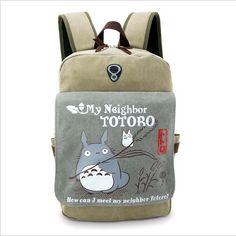 Amazon.com: UBeauty (TM) Anime Backpack Totoro Cartoon Package Women Shoulder Bag Canvas Bag Girls Schoolbag: Toys & Games