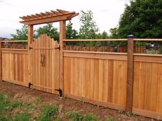 Wood Entry Gates | Here's an automated residential wooden gate system.