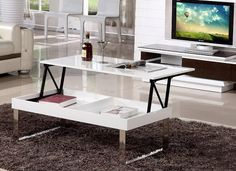 Lift-top Coffee Table Gloss White Finish [MD14F28-1612] - $238.00 : Online Shopping, China Furniture Wholesale, Best Price and Top Quality Furniture, China Furniture