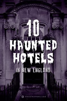 Haunted Hotels in New England road trip makes stops at The Spalding Inn, The Green Mountain Inn, The Sagamore and others. Plan your road trip with Roadtrippers. New England States, New England Fall, New England Travel, Spooky Places, Haunted Places, Abandoned Places, Abandoned Buildings, Oh The Places You'll Go, Places To Travel