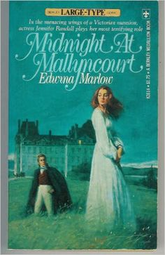 MIDNIGHT AT MALLYNCOURT by Edwina Marlow.  Novel published at the height of the gothic craze in the 1970s.