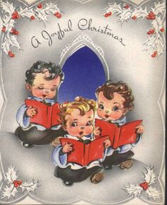 Wishing you a joyful Christmas. #vintage #Christmas #cards. Is that Brady on the right!?!?