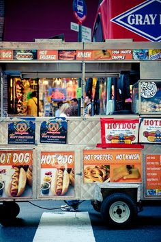"Color Theory Therapy| Serafini Amelia| "" Urban Color"" Hot Dog Stand, New York"