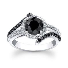 2.39Ct. Black Diamond  Ring With Free Cetificate #Solitaire