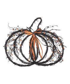 Look what I found on #zulily! Spooky Pumpkin Wreath #zulilyfinds