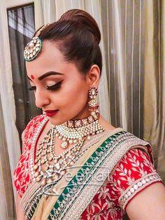 Sonakshi Sinha In Anita Dongre Lehenga Choli Bollywood Saree, Indian Bollywood, Bollywood Fashion, Bollywood Actress, Indian Sarees, Indian Wedding Outfits, Indian Outfits, Indian Clothes, Sonam Kapoor