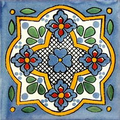 Infuse the spirit of the Southwest into your home with these beautifully handcrafted Talavera tiles! An eye catching accent in kitchens and baths, decorative ceramic tiles are also perfect for covering the risers on a staircase or the walls of a patio. Talavera Pottery, Pottery Art, Vitromosaico Ideas, Art Nouveau Tiles, Tuile, Art Populaire, Spanish Tile, Clay Tiles, Mexican Art