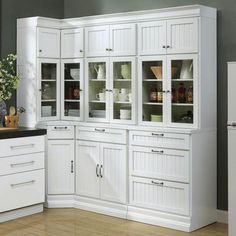 Home Decorators Collection Martingale True White Beadboard Modular Storage Cabinet - The Home Depot White Shaker Kitchen, Shaker Kitchen Cabinets, Baroque Furniture, White Furniture, White Storage Cabinets, Tall Cabinet Storage, White Beadboard, Glass Cabinet Doors, China Cabinet