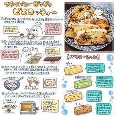フライパンでビスコッティー Sweets Recipes, Easy Desserts, Diet Recipes, Snack Recipes, Cooking Recipes, Snacks, Food Design, Food Sketch, Homemade Sweets