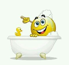 Washing in the Bath Smiley - httpswww.facebook.compagesGreat-Jokes-Funny-Pics182221201794268