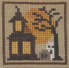 Halloween Markings: Haunted House - Cross Stitch Pattern  by Heart In Hand Needleart