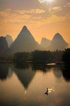 Photograph Sunset fisherman by Herbert Wong on 500px