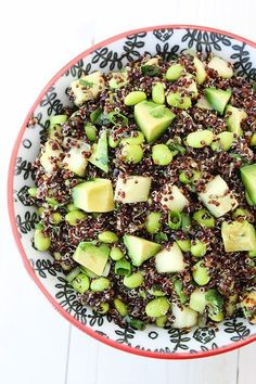 Quinoa Salad with Edamame, Cucumber and Avocado Recipe on http://twopeasandtheirpod.com Love this healthy salad!