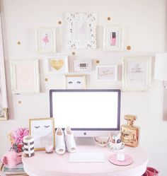 How To Make Your Workspace Girly - J'adore Lexie Couture