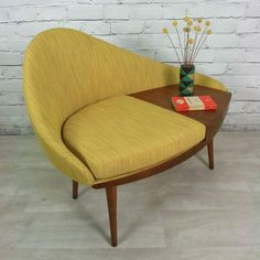 Mid-century gossip bench ~ love this one!