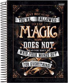 Caderno Espiral Universitário Capa Dura 10X1 200 Folhas - Harry Potter Magic