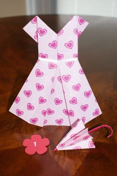 Valentine Origami Paper Dress Plus Matching by TeddyBearLover4Sure, $7.00