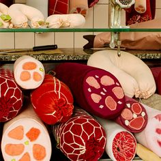 German deli meat shaped cushions from Aufschnitt. Probably not the ideal gift for a vegetarian.