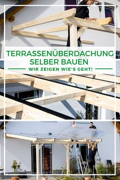 Terrace roofing wood: Build your own terrace roofing - you need to know that! - Building a terrace roof: Do you want a roof over your terrace? Are you wondering whether you can bui - Back Gardens, Outdoor Gardens, Getaway Cabins, Patio Roof, Diy Pergola, Other Rooms, Build Your Own, Backyard, Wood