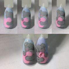 """Быстрый Мк """"Мишка Тедди"""" Рисую гель/лаками, прорисовка гель/краской, кисть колонок 00, #мк_angik_shustik #мишкатедди #новогоднийдизайн"""