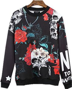 would love my man to wear this. Mens Hip Hop Cotton Fashion Floral Printing Hoodie Sweater Sweatshirt