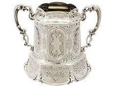 Sterling Silver Sugar Bowl - Antique Victorian