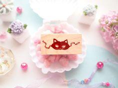cat mask stamp