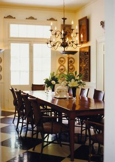 Lovely Dining Room with beautiful french doors