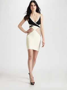Herve Leger Colorblock Bandage Dress can show up their personality best and let women can become more confident.Just select your favorite herve leger dress here with the lowest price. White Feather Skirt, Simple Dresses, Dresses For Work, Dress Work, Seersucker Dress, Herve Leger Dress, Spaghetti Strap Dresses, Spaghetti Straps, Colorblock Dress