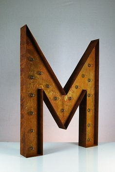 Vintage Marquee Lights Letter M 36 by VintageMarqueeLights