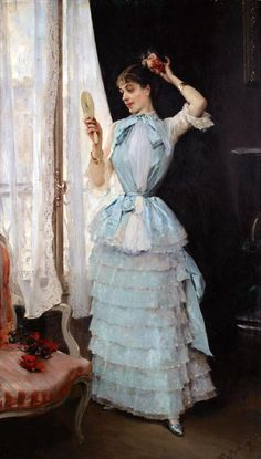 The Athenaeum - Aline at her toilette (Raimundo de Madrazo y Garreta - circa No dates listed)