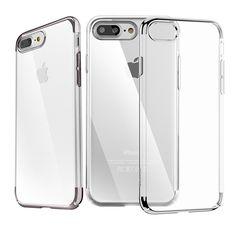 Coque iPhone 7 Plus Polycarbonate Super Slim - Transparent / Argent