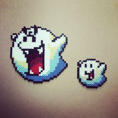 Big Boo and Little Boo perler beads by bassobrevis