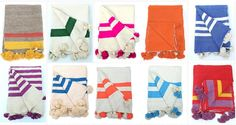Moroccan Sunset: HAND-LOOMED MOROCCAN POM POM BLANKETS