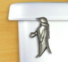 Pewter Penguin Toilet Handle