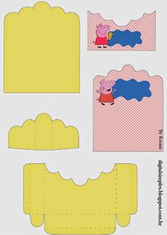 Peppa Pig: Soporte para Golosinas para Imprimir Gratis. Peppa Pig Printables, Free Printables, Peppa Pig Teddy, Chocolate Bis, Cumple Peppa Pig, Gata Marie, Oh My Fiesta, Printable Box, Pig Party